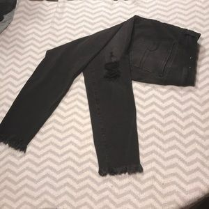 Black Women's Ripped Black Jeans
